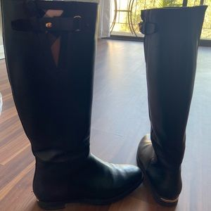 Burberry knee high boots